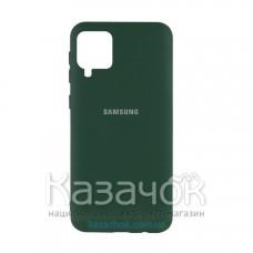 Силиконовая накладка Silicone Case для Samsung A12/A125 2021 Pine Green