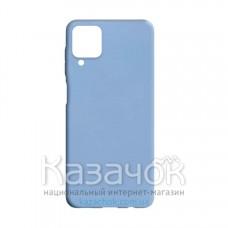 Силиконовая накладка Silicone Case для Samsung A12/A125 2021 Light Blue