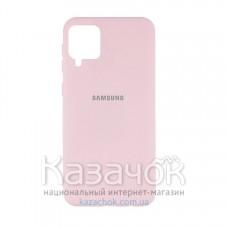 Силиконовая накладка Silicone Case для Samsung A12/A125 2021 Light Pink