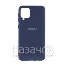 Силиконовая накладка Silicone Case для Samsung A12/A125 2021 Dark Blue