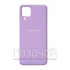 Силиконовая накладка Silicone Case для Samsung A22/A225 2021 Lilac