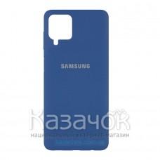 Силиконовая накладка Silicone Case для Samsung A22/A225 2021 Navy Blue