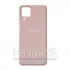 Силиконовая накладка Silicone Case для Samsung A22/A225 2021 Sand Pink