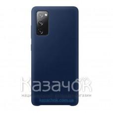 Силиконовая накладка Silicone Case для Samsung S20FE/G780 2020 Navy Blue