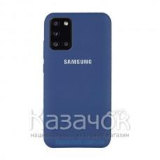 Силиконовая накладка SMTT-Soft Touch для Samsung A31/A315 2020 Blue