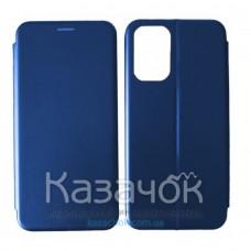 Чехол-книжка Black TPU Magnet для Xiaomi Redmi Note 10/Note 10S Blue