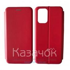 Чехол-книжка Black TPU Magnet для Xiaomi Redmi Note 10/Note 10S Red