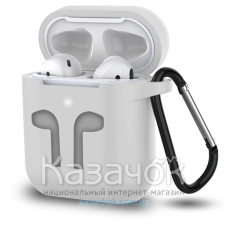 Чехол для наушников Apple AirPods/AirPods2 Grey