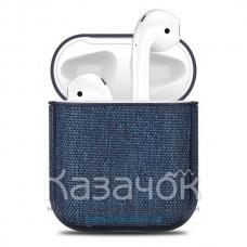 Чехол для наушников Apple AirPods/AirPods2 Texyile Blue