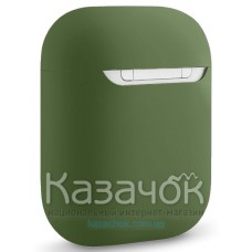 Чехол для наушников Apple AirPods/AirPods2 Ultra Slim Dark Green