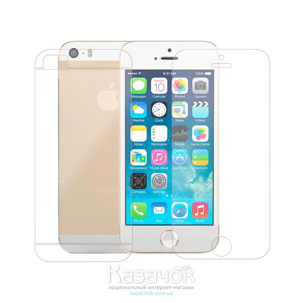 Защитная пленка iPhone 5/5S Front and Back Clear