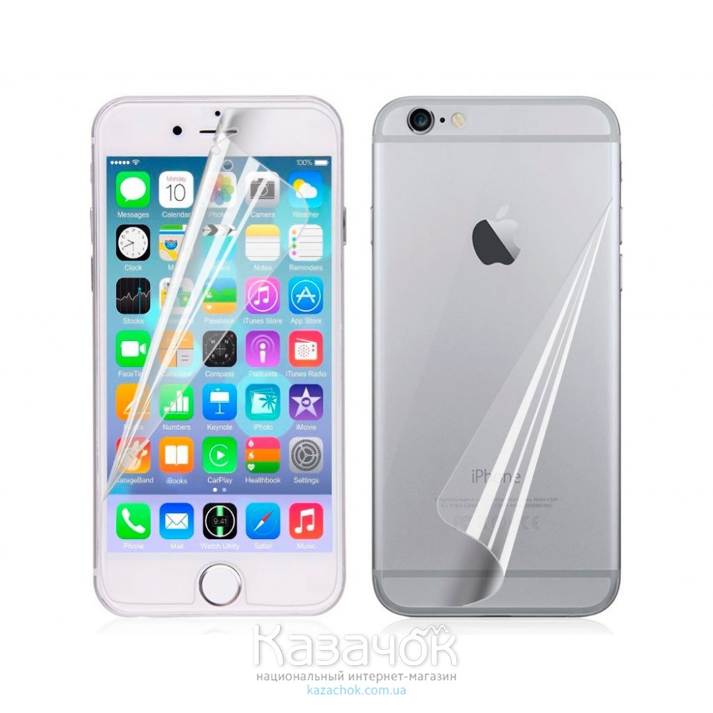 Защитная пленка iPhone 6/6S Front and Back Clear