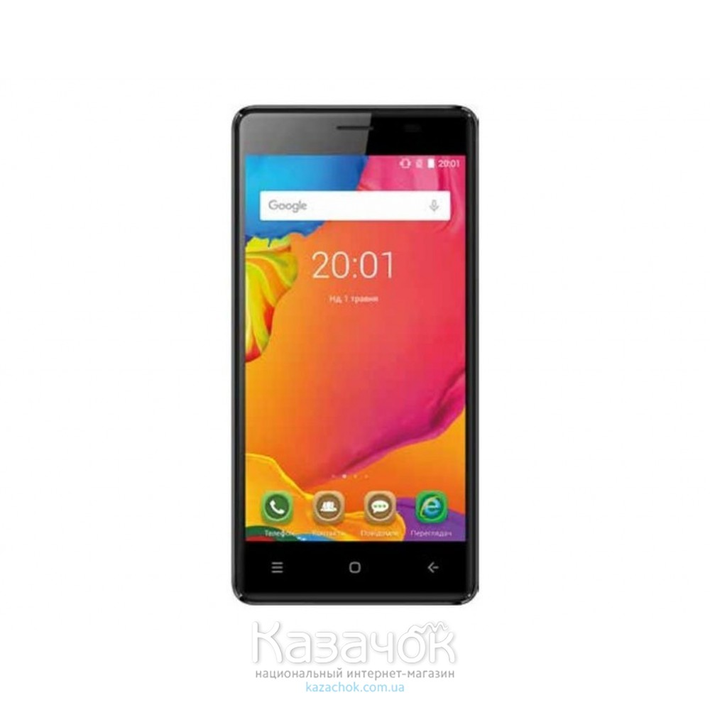 Мобильный телефон Ergo F500 Force Dual Sim Black