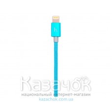 USB-кабель HOCO UPL09 Metal Carbon Lightning Blue