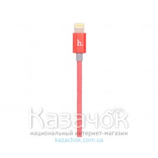 USB-кабель HOCO UPL09 Metal Carbon Lightning Red