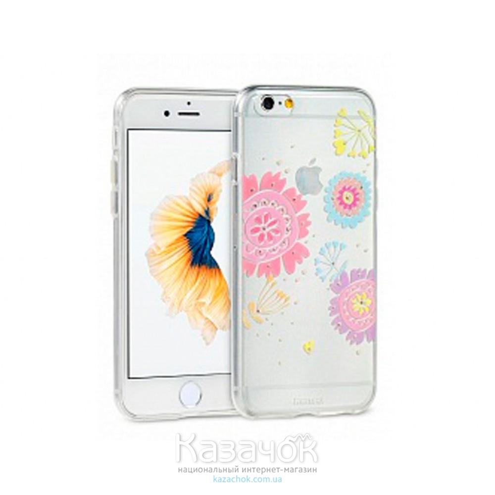Силиконовая накладка iPhone 6/6S Remax Flower Series Daisy (2-0138)