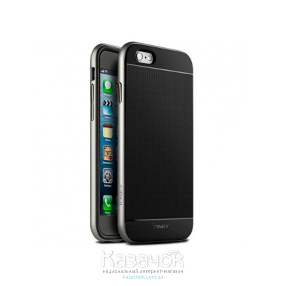 Силиконовая накладка iPhone 6/6S iPaky TPU+PC Silver