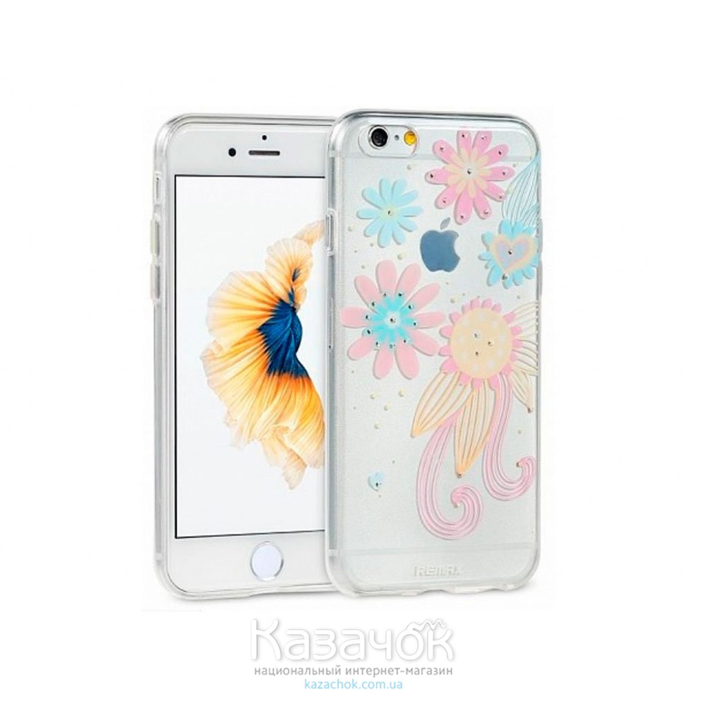 Силиконовая накладка iPhone 6/6S Remax Flower Series Sunflower (2-0138)