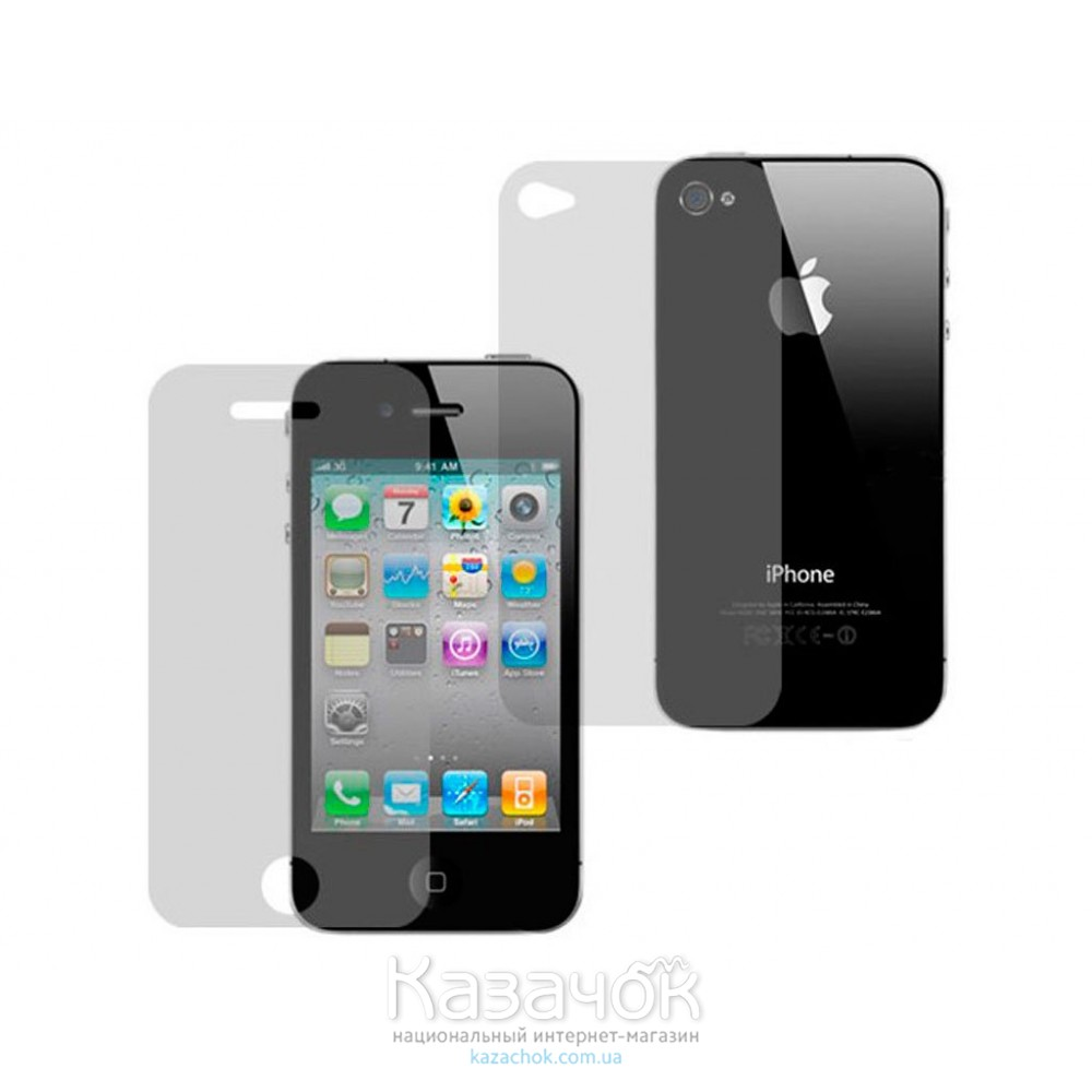 Защитная пленка iPhone 4/4S Front and Back Clear