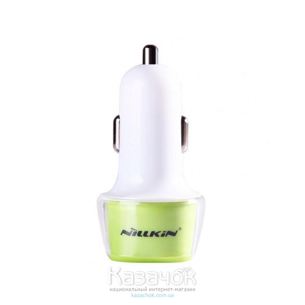 Автомобильное зарядное устройство Nillkin Jelly Car Charger 2.4 A Green