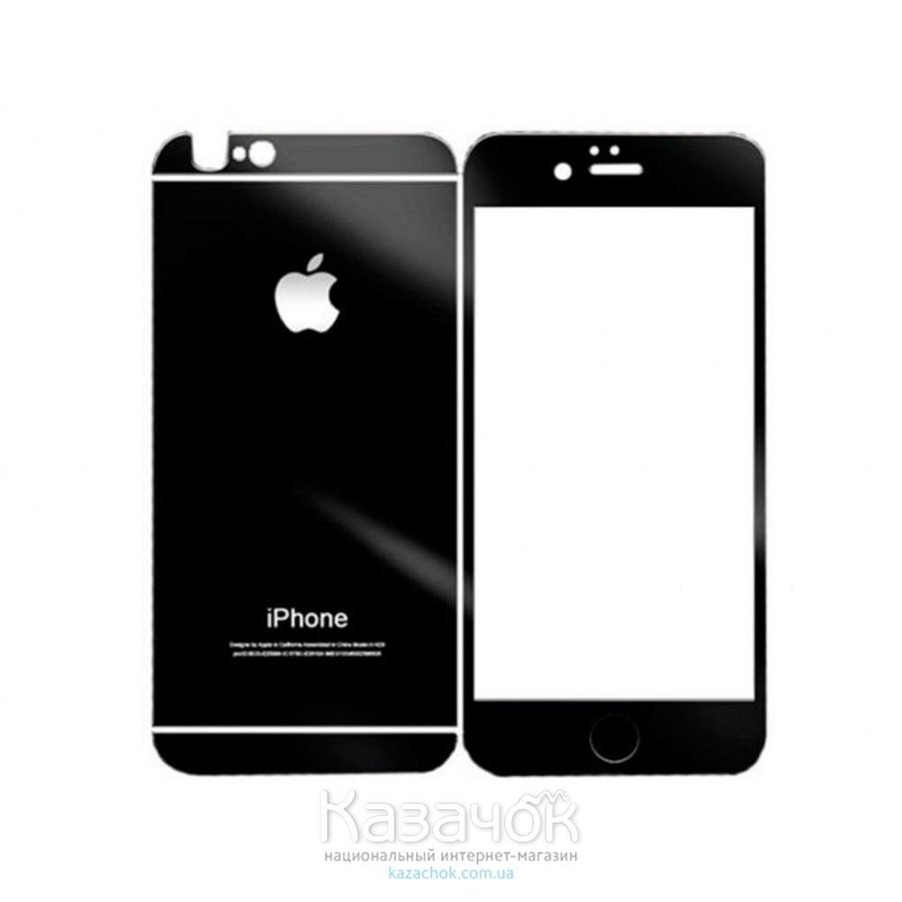 Защитное стекло iPhone 5/5S Front and Back Black