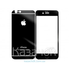Защитное стекло iPhone 5/5S Front and Back Black