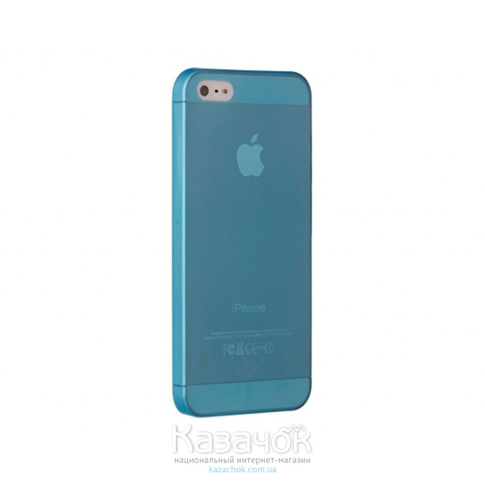 Чехол Ozaki O!coat 0.3 Jelly iPhone 5/5S Blue (OC533BU)