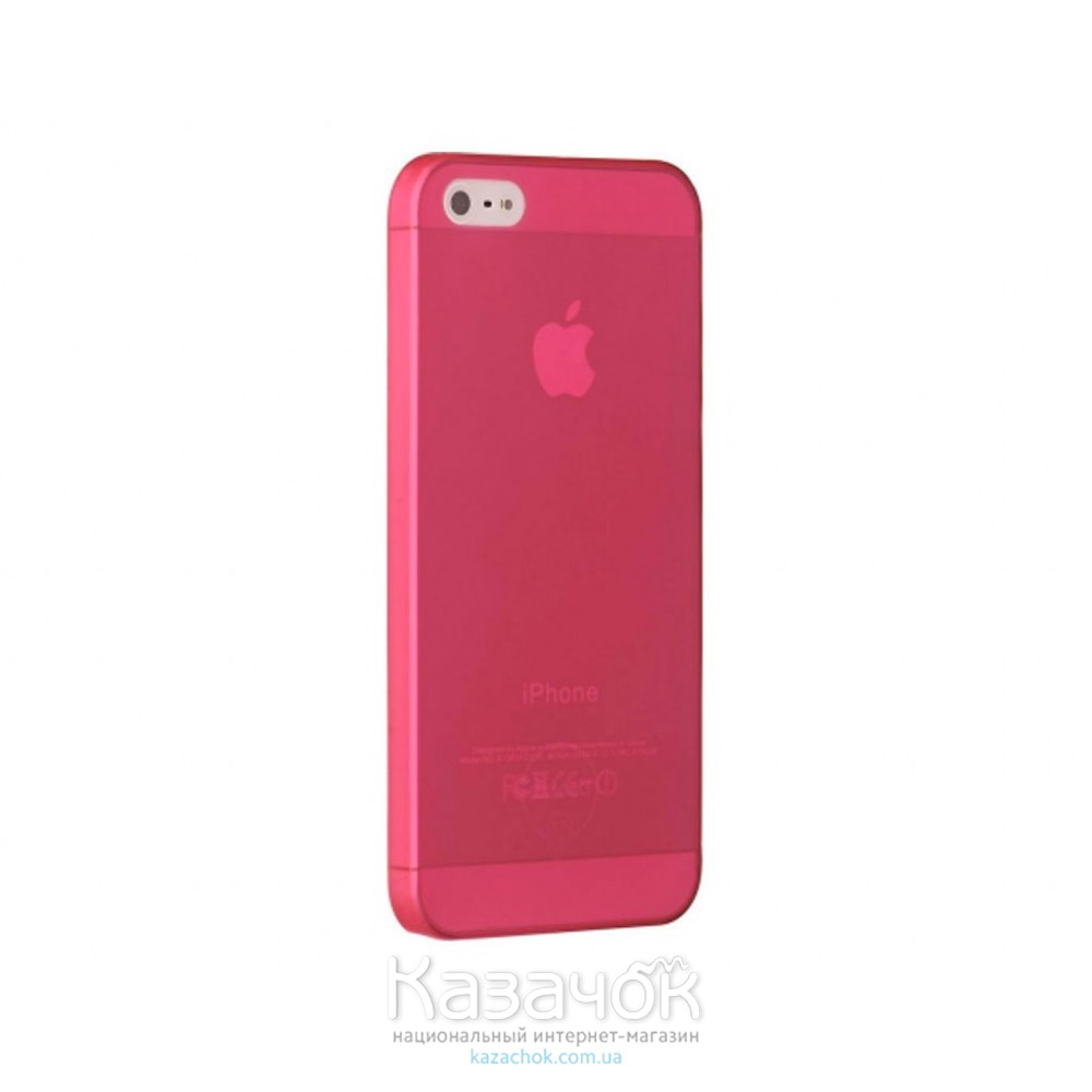 Чехол Ozaki O!coat 0.3 Jelly iPhone 5/5S Red (OC533RD)