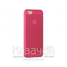Чехол Ozaki O!coat 0.3 Jelly iPhone 5/5S Red (OC533RD)