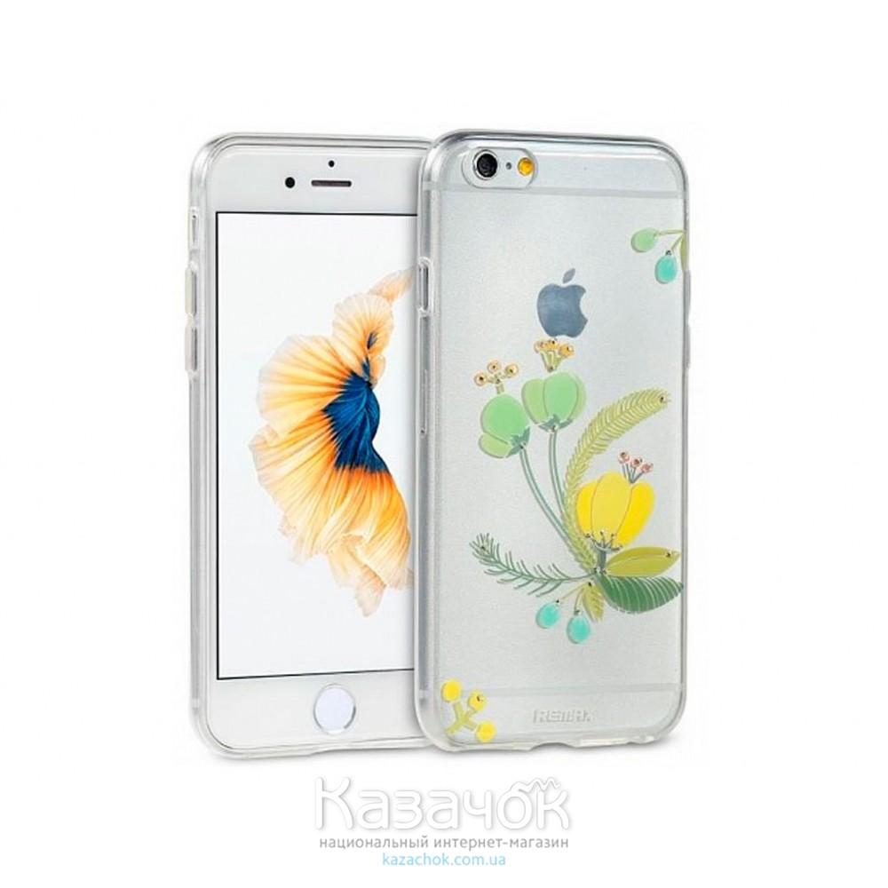 Силиконовая накладка iPhone 6/6S Remax Flower Series Green (2-0138)