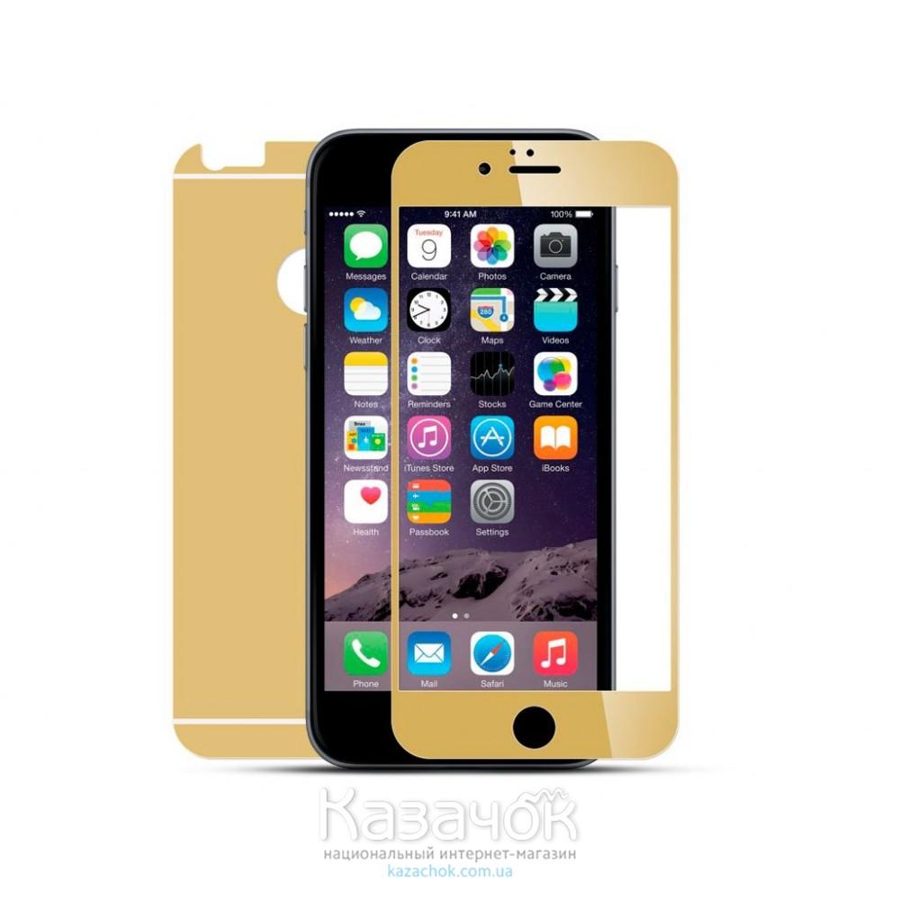 Защитное стекло iPhone 6/6S Front and Back Gold Metal