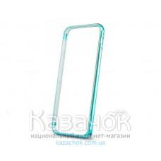 Бампер iPhone 6 Aluminium Slim Elegant Blue/Gold