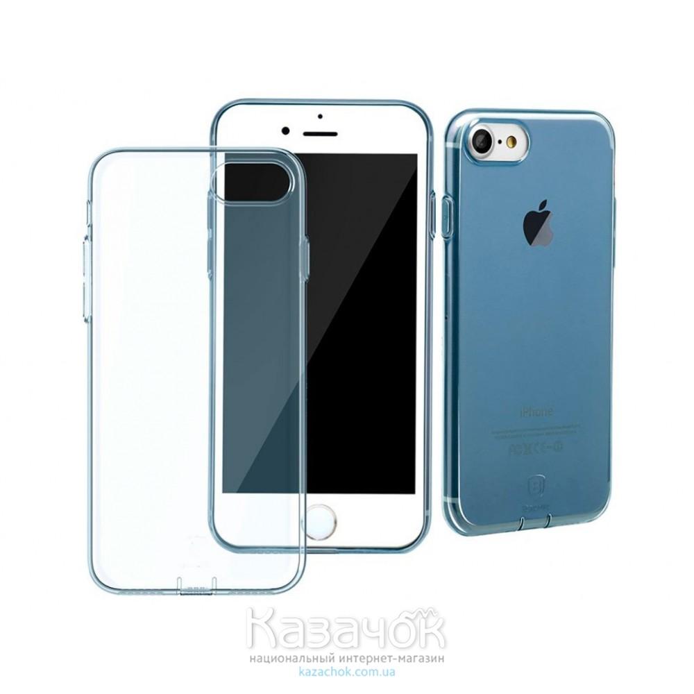 Силиконовая накладка Baseus iPhone 7 Simple Blue