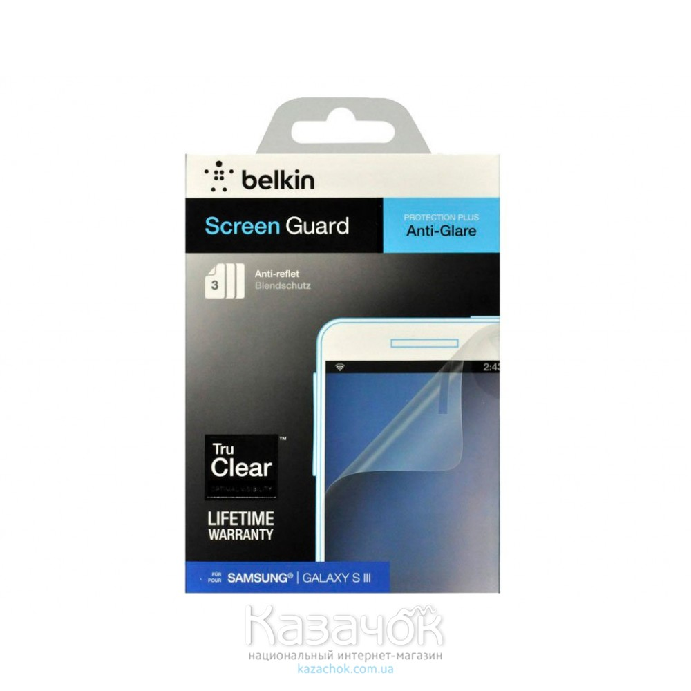 Защитная пленка Samsung i9300 Belkin Screen Guard Anti-Glare (722868895177)
