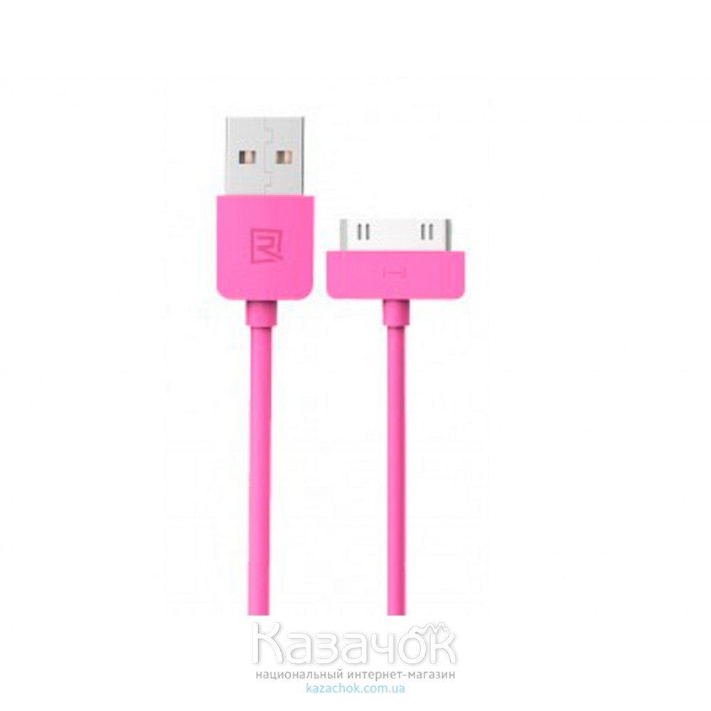USB кабель Remax iPhone 4/4S Light Speed Series 1m Pink