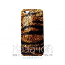 Пластиковая накладка iPhone 5/5S ODOYO Wild Animal Tiger
