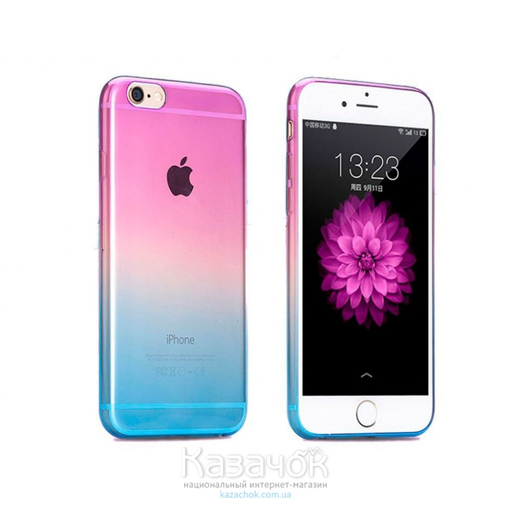 Силиконовая накладка iPhone 5/5S Gradient Blue/Purple