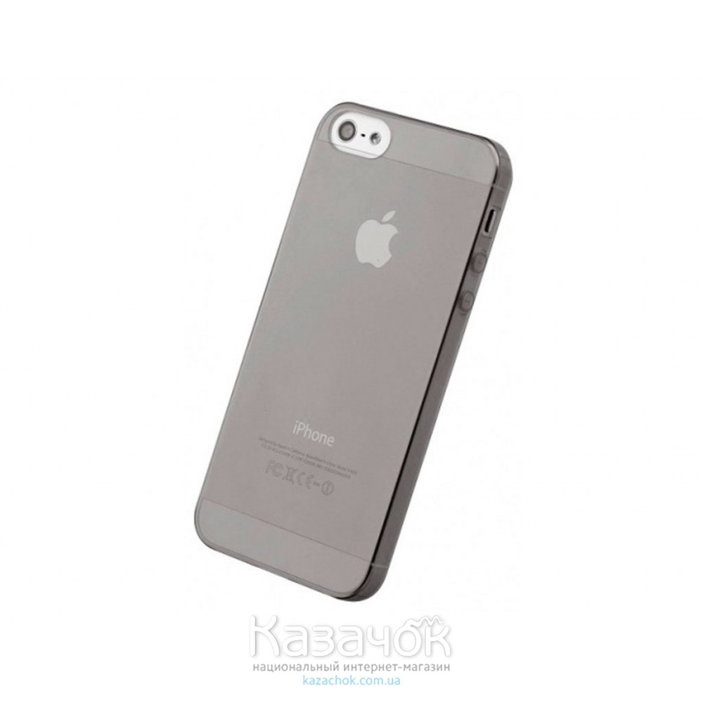 Силиконовая накладка iPhone 5/5S Ultrathin Gray