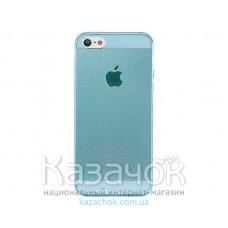 Силиконовая накладка iPhone 5/5S Remax 0.2 mm Blue