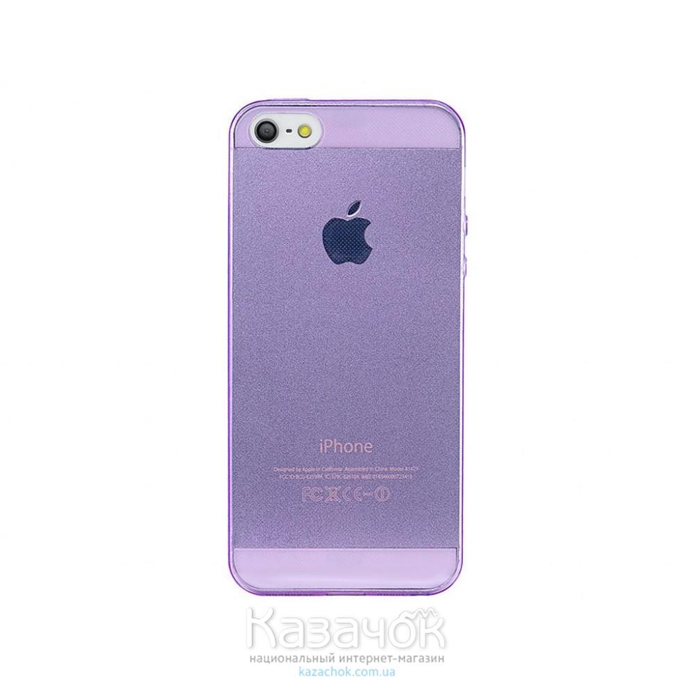 Силиконовая накладка iPhone 5/5S Remax 0.2 mm Violet