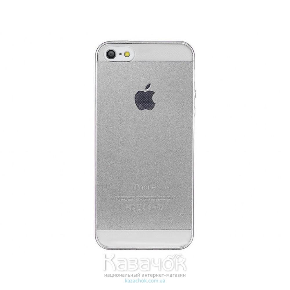 Силиконовая накладка iPhone 5/5S Remax 0.2 mm Transparent