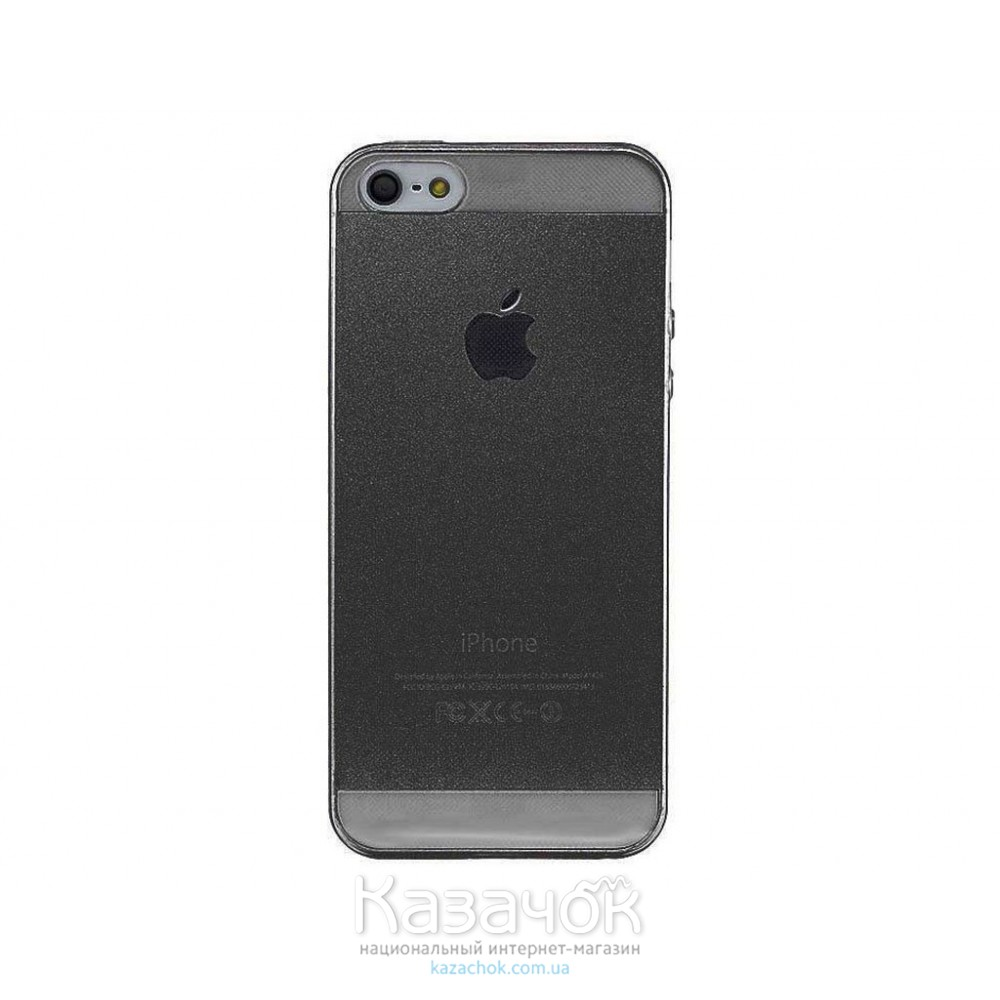 Силиконовая накладка iPhone 5/5S Remax 0.2 mm Grey