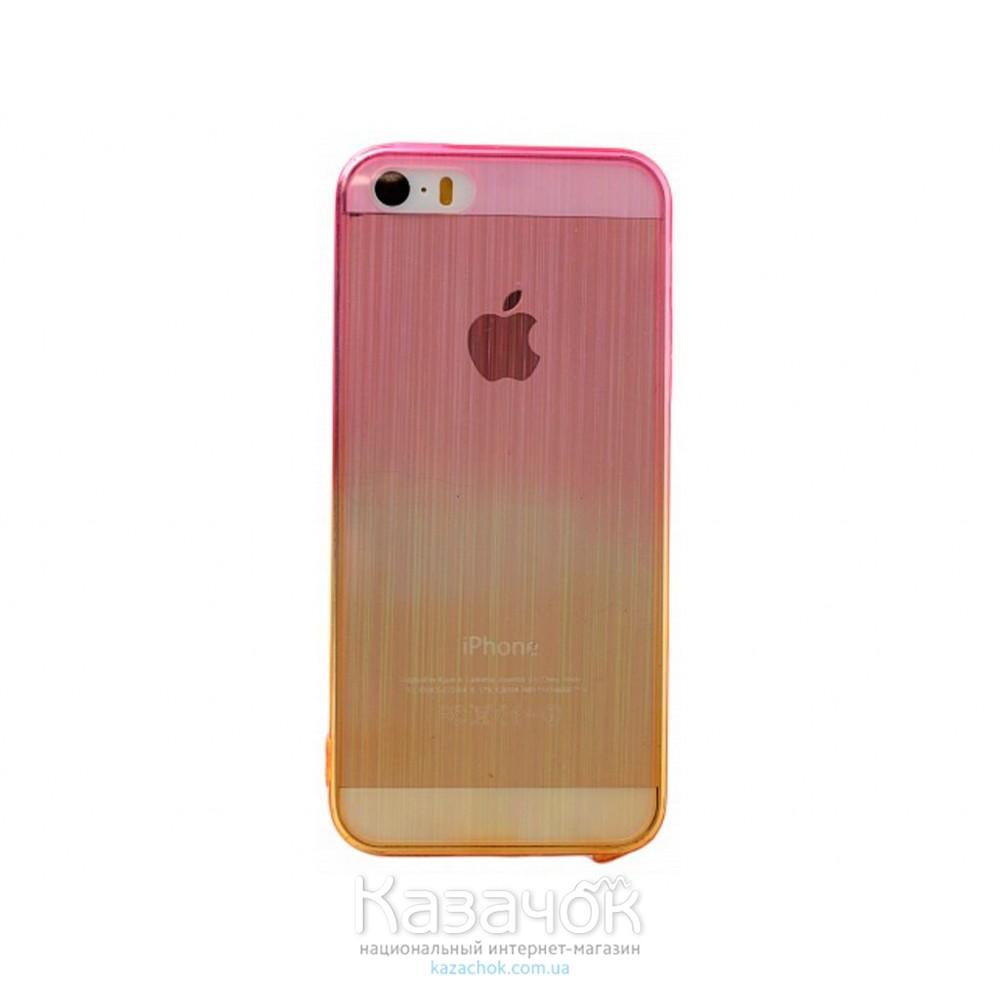 Силиконовая накладка iPhone 5/5S Gradient Rose/Gold