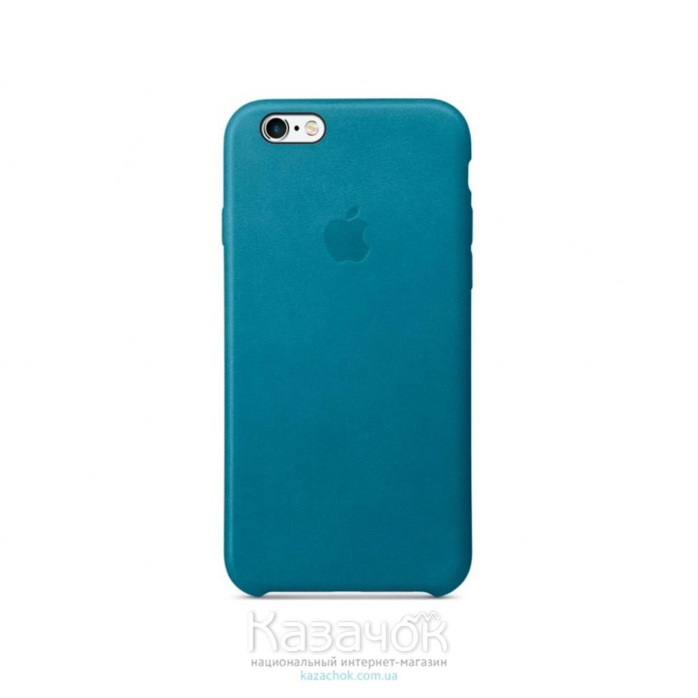 Кожаная накладка iPhone 6 Original Cyan