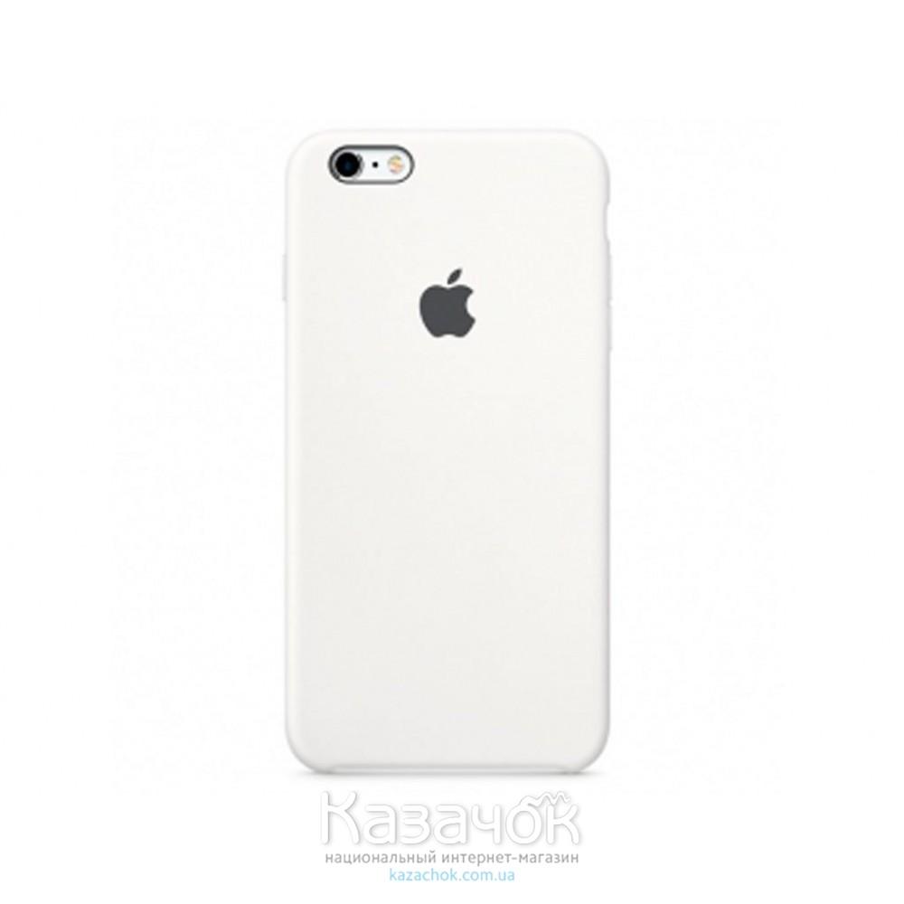 Кожаная накладка iPhone 6 Original White