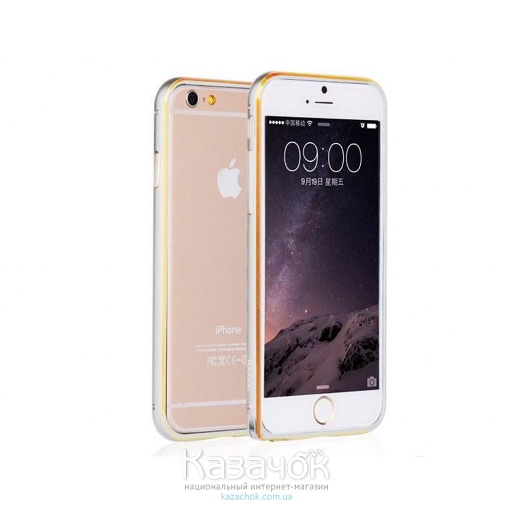 Бампер iPhone 6 Yoobao Aluminium Silver/Gold