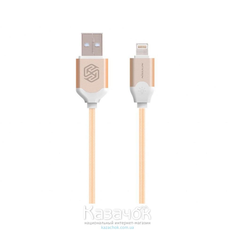 USB-кабель NILLKIN Aurora Lightning Cable 2.1 A Gold