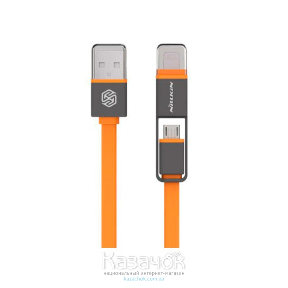 USB-кабель NILLKIN Plus Cable - 1M Orange (Lightning/Micro USB)