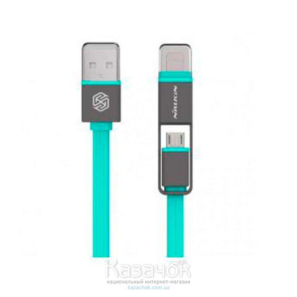 USB-кабель NILLKIN Plus Cable - 1M Green (Lightning/Micro USB)