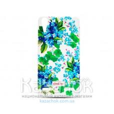 Силиконовая накладка Lenovo Vibe P1 Diamond Cath Kidston Romantic Blue